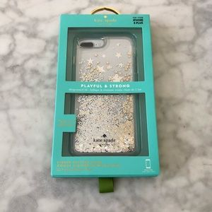 Kate Spade Glitter Ombre iPhone 8 Plus Case *NEW*
